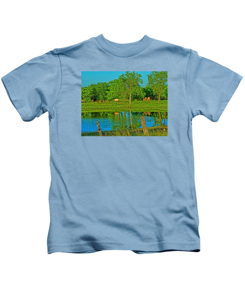 Pond Kids T-Shirt featuring the photograph Tranquility by Dennis Nelson
