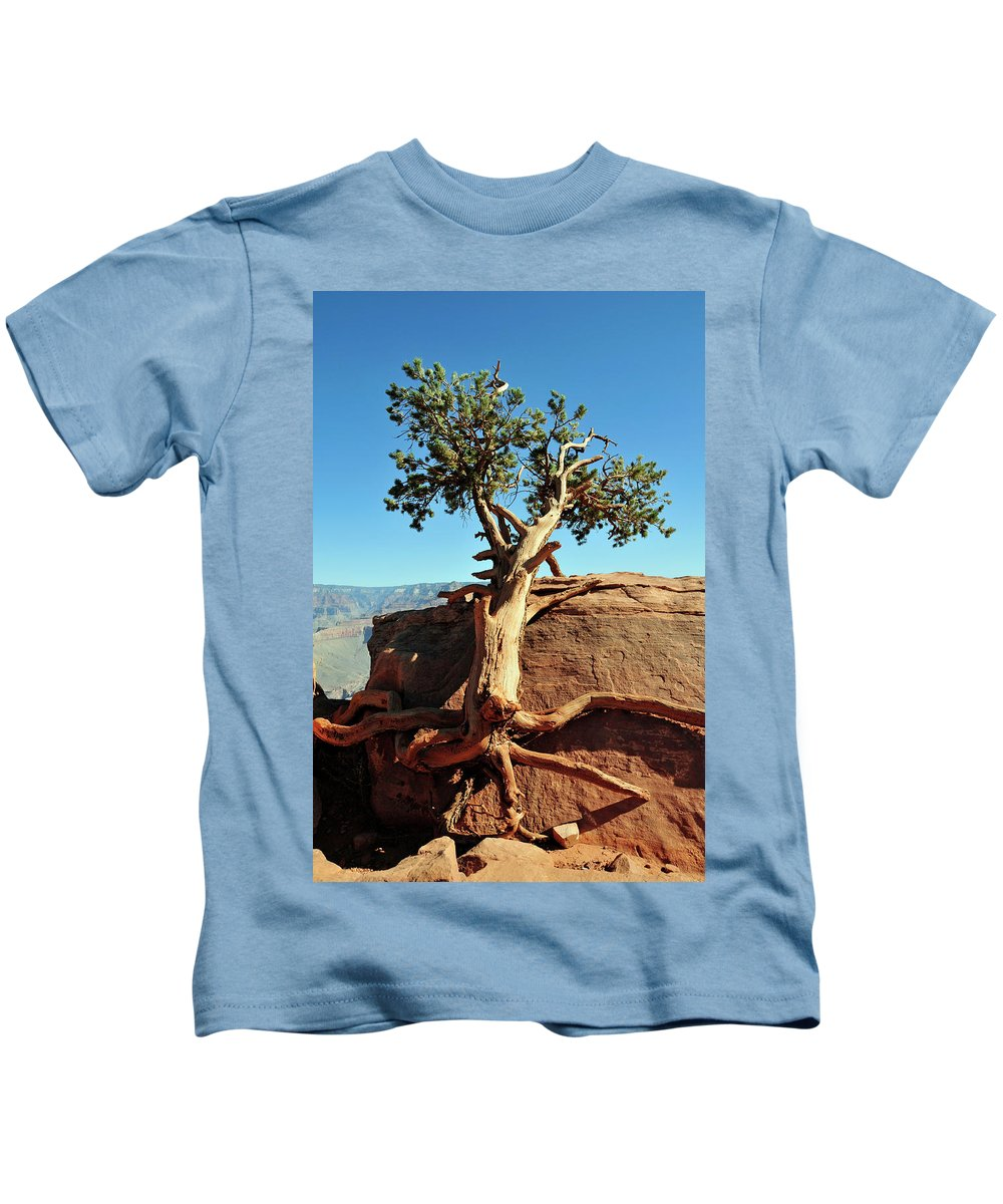 Tree Kids T-Shirt featuring the photograph Tree Verses Rock by David Arment