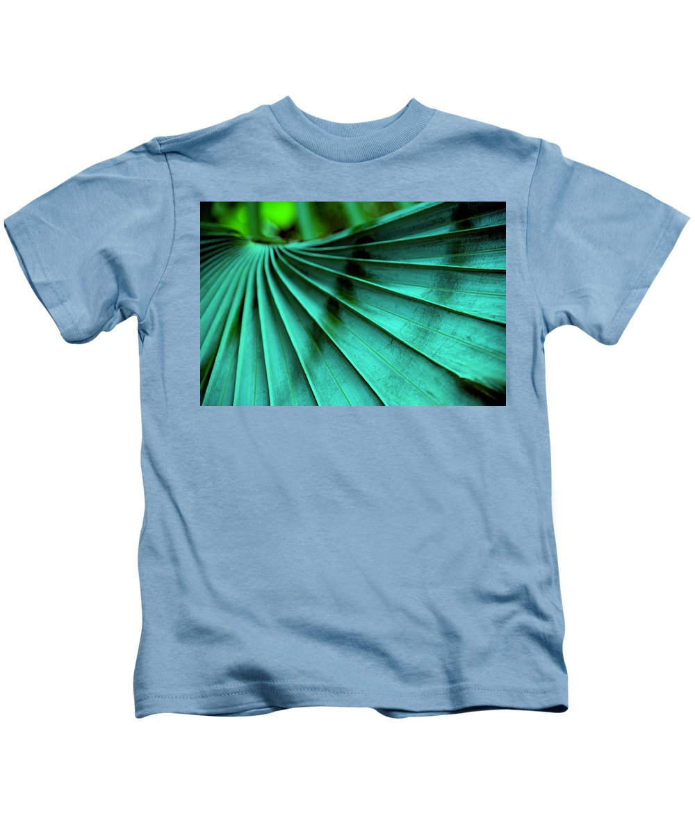 Silver Palm Leaf Kids T-Shirt featuring the photograph Tropical Wings by Susanne Van Hulst