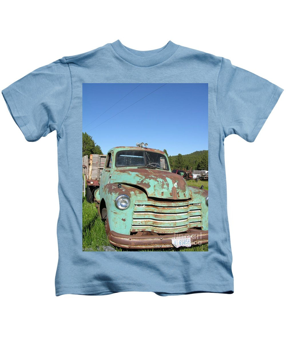 Truck Kids T-Shirt featuring the photograph Truck Montana by Diane Greco-Lesser