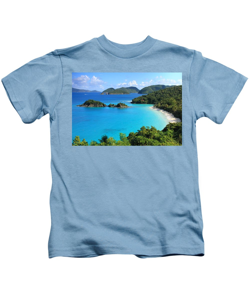 Trunk Bay Kids T-Shirt featuring the photograph Trunk Bay St. John by Roupen Baker