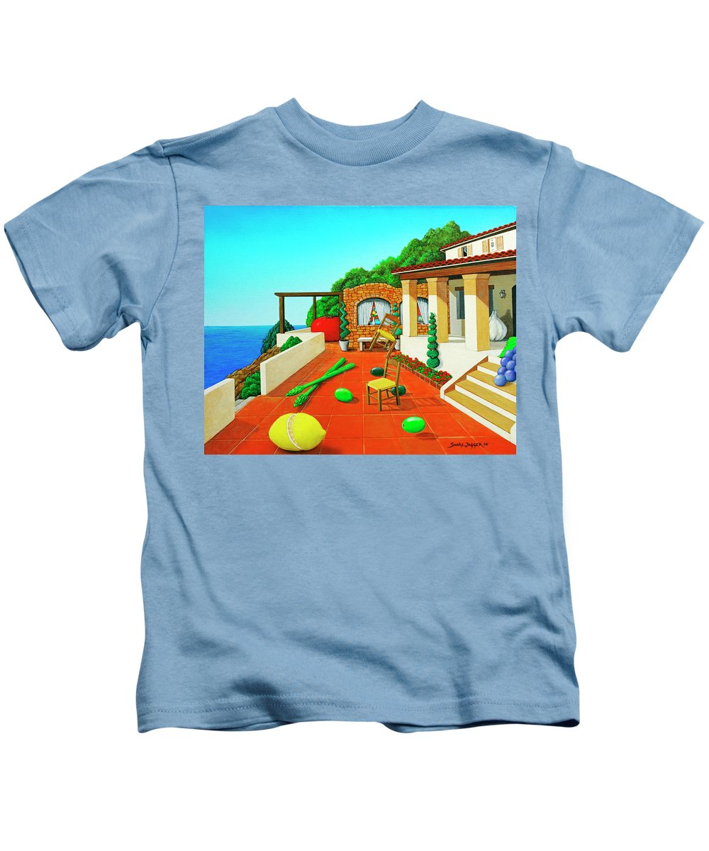 Tuscan Kids T-Shirt featuring the painting Tuscan Vacation by Snake Jagger