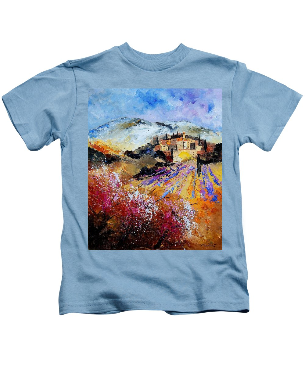 Provence Kids T-Shirt featuring the painting Tuscany 56 by Pol Ledent