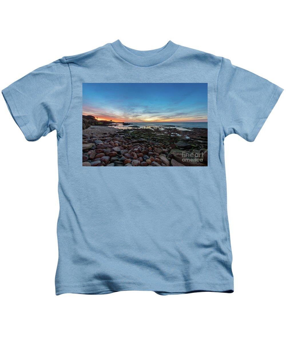 Twilight Kids T-Shirt featuring the photograph Twilight At La Jolla Cove by Bora Baysal