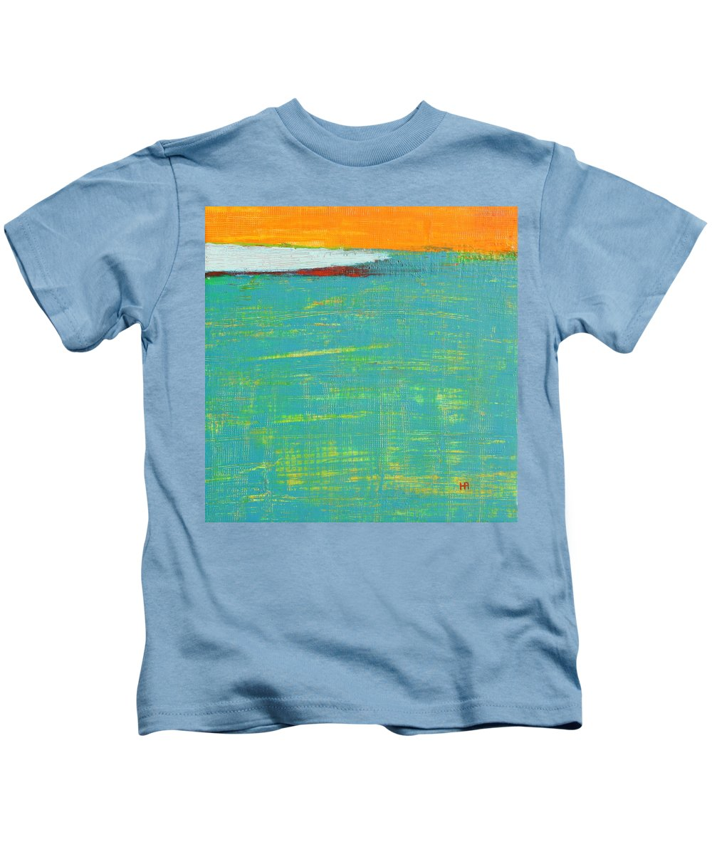 Abstract Kids T-Shirt featuring the painting Under The Pressure by Habib Ayat