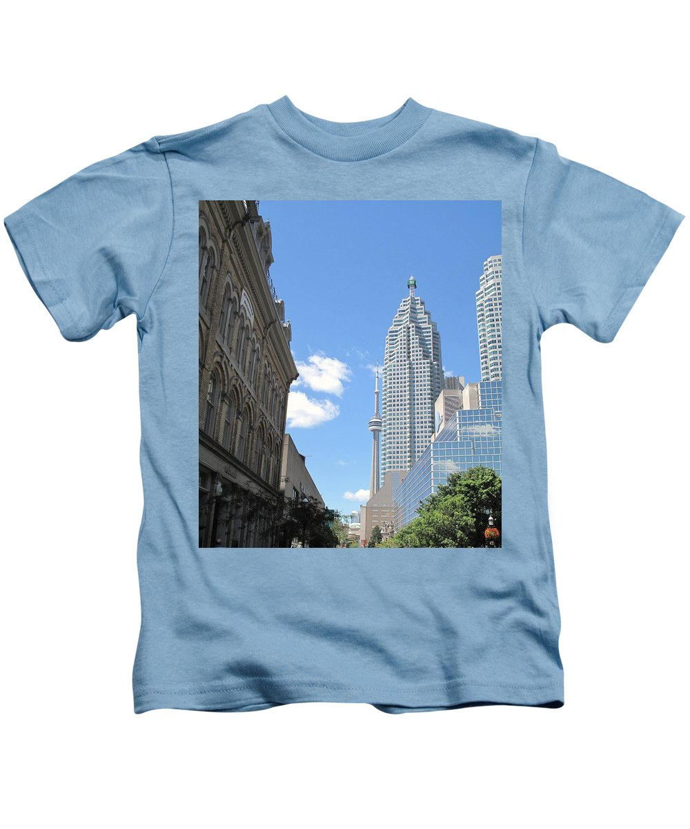 Front Street Kids T-Shirt featuring the photograph Urban Canyon by Ian MacDonald