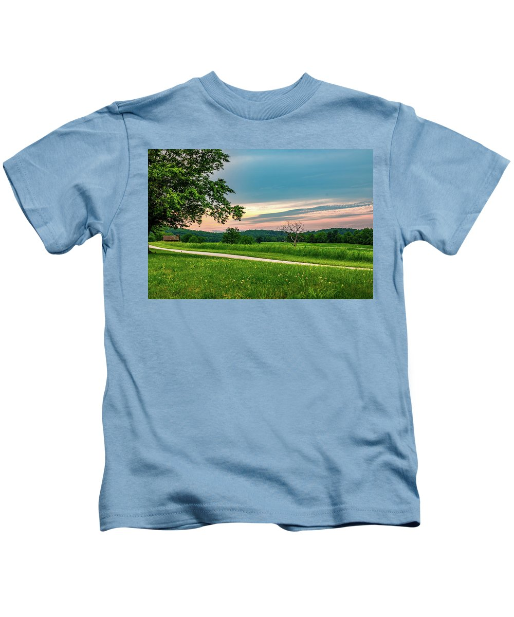 Valley Kids T-Shirt featuring the photograph Valley Forge Sunset by Howard Roberts