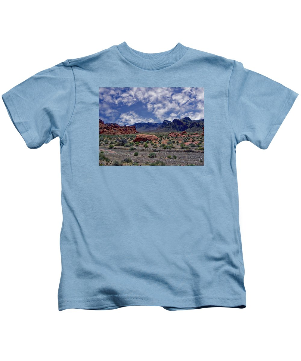 Rock Kids T-Shirt featuring the photograph Valley Of Fire by Anthony Dezenzio