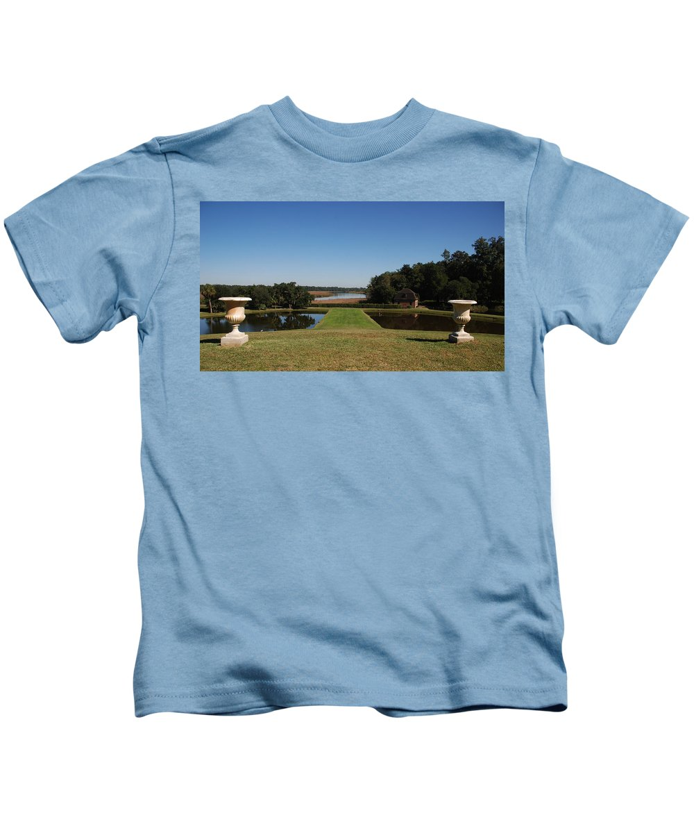 Photography Kids T-Shirt featuring the photograph View Down To The Ashley River At Middleton Place Plantation Charleston by Susanne Van Hulst