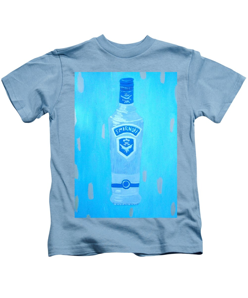 Pop Art Kids T-Shirt featuring the painting Vodka by Patrice Tullai