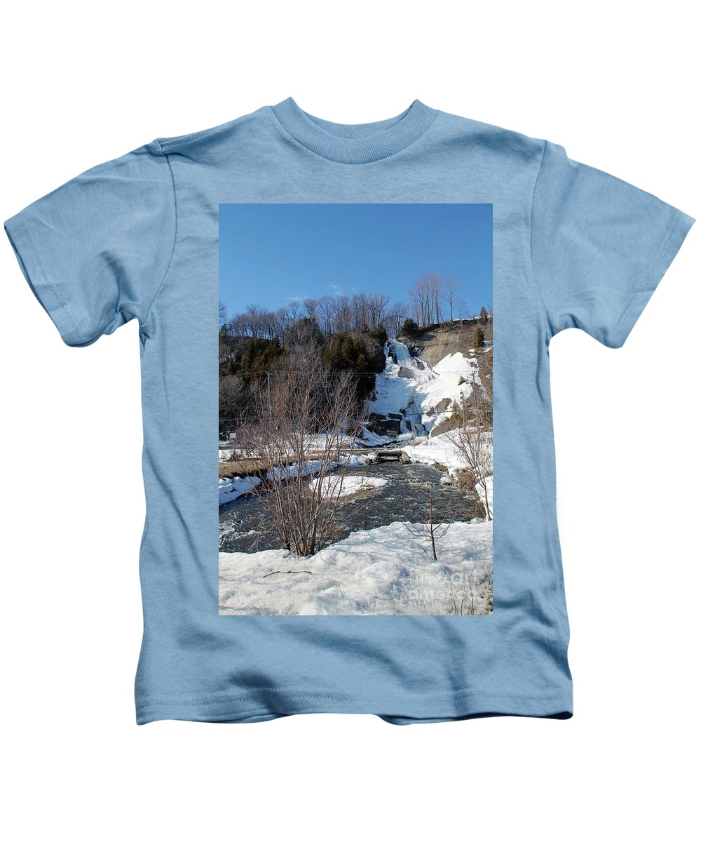 Blue Kids T-Shirt featuring the photograph Voile De La Mariee Fall by Michel Poulin