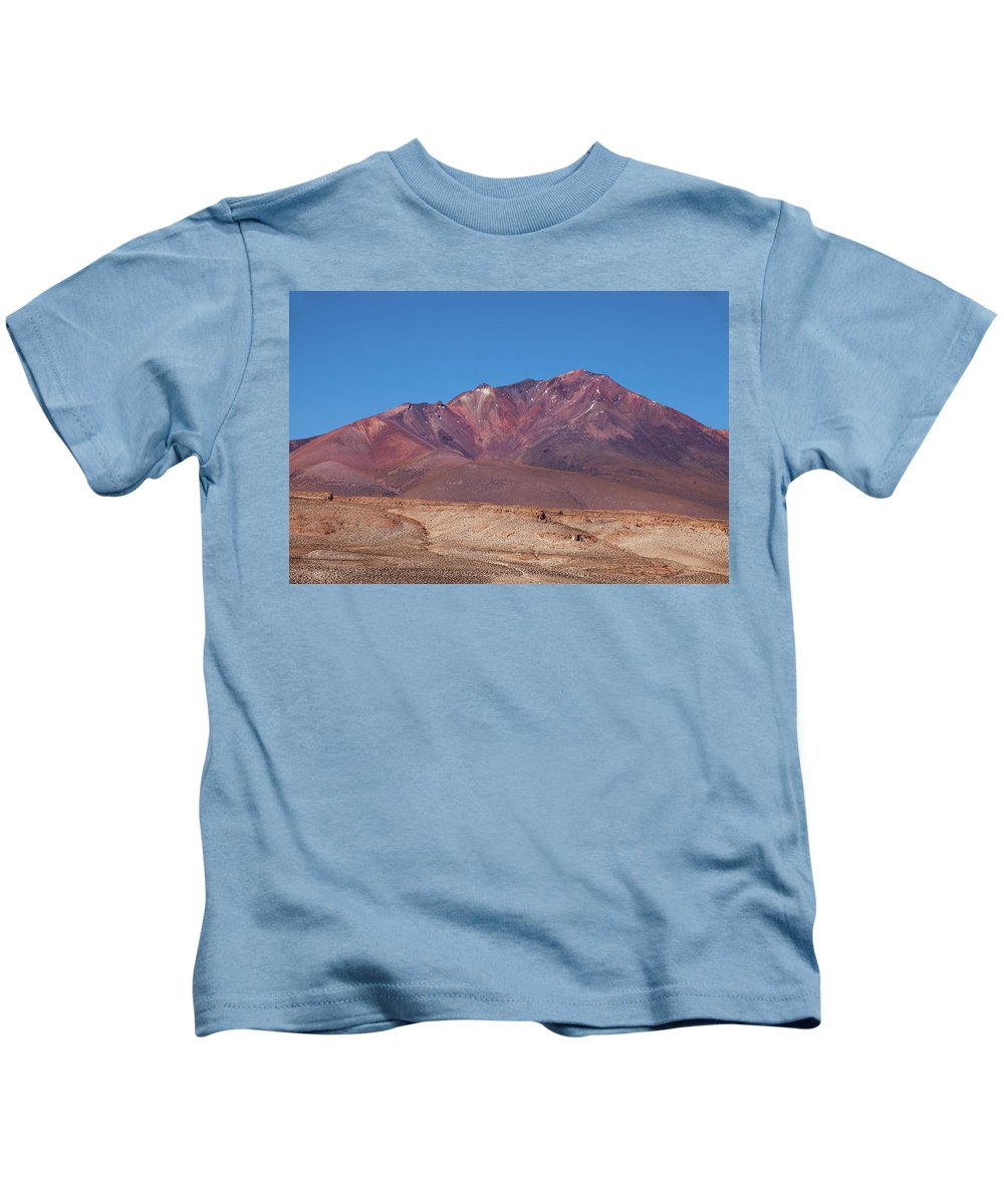 Volcano Crater Kids T-Shirt featuring the photograph Volcano Crater In Eduardo Avaroa Nr by Aivar Mikko