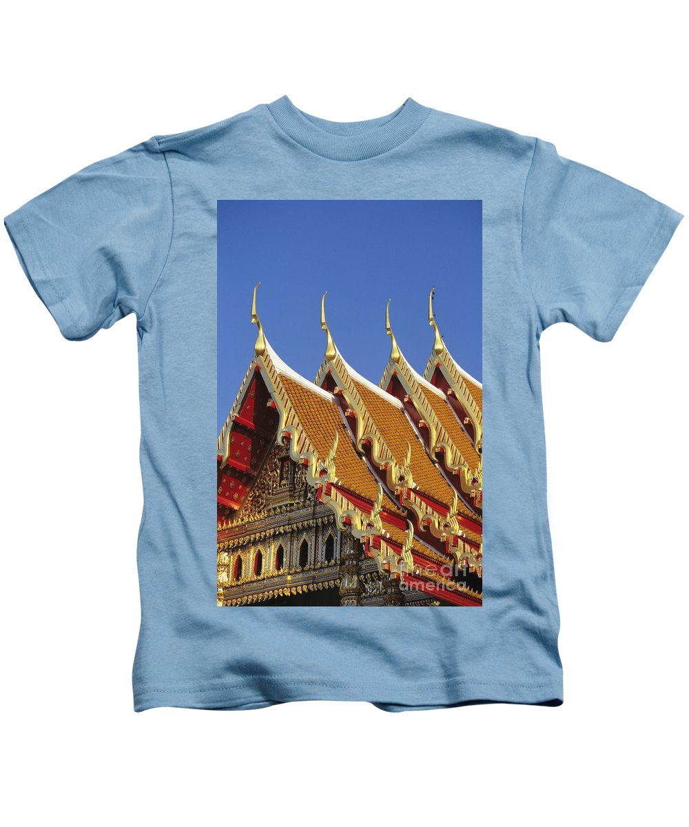 Architecture Kids T-Shirt featuring the photograph Wat Benjamabophit by Gloria & Richard Maschmeyer - Printscapes