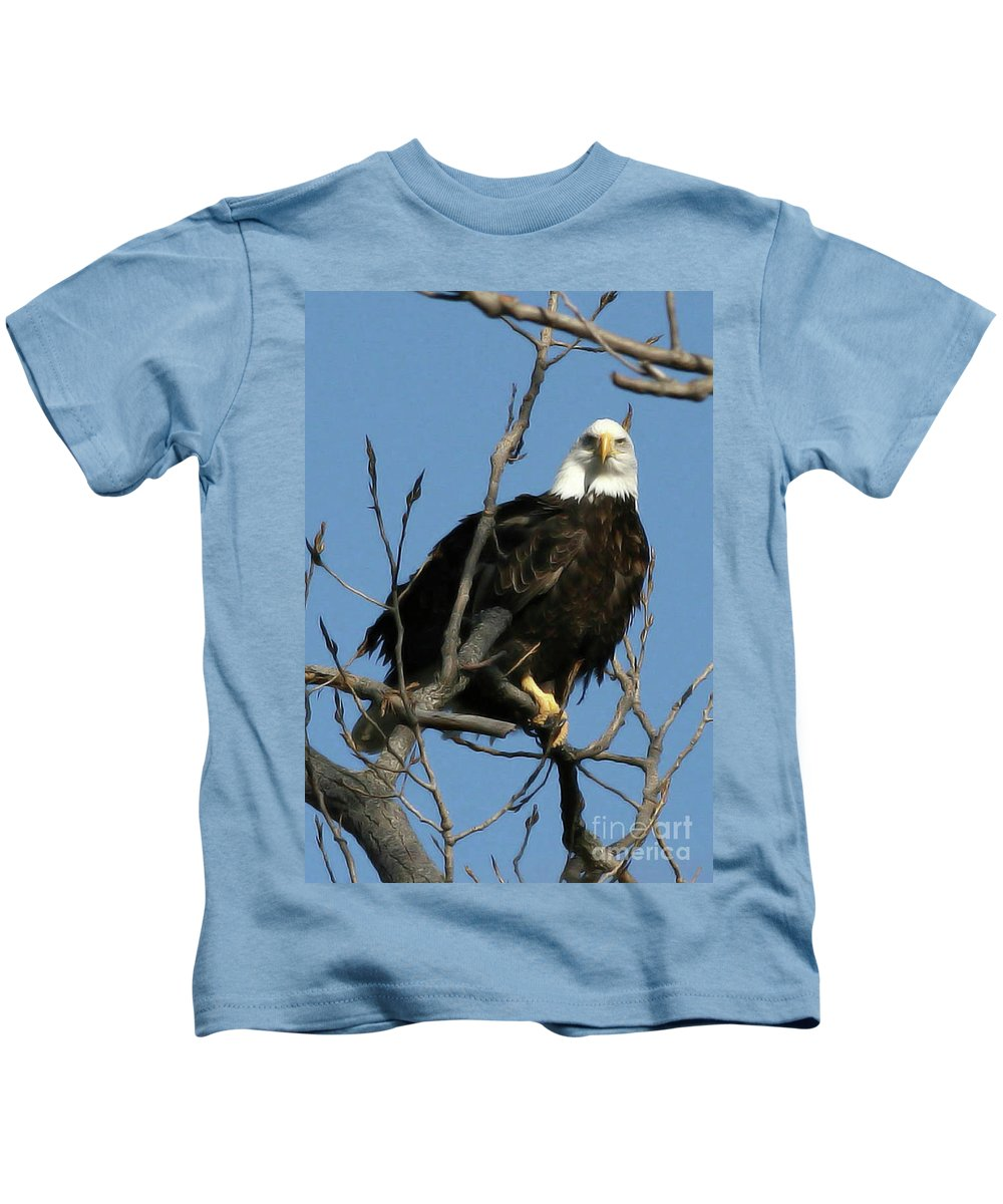 Eagle Kids T-Shirt featuring the photograph Watch On The Fox by Tommy Anderson