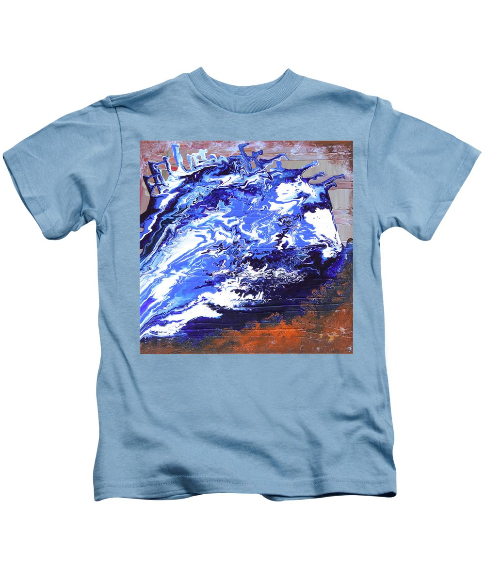Fusionart Kids T-Shirt featuring the painting Water by Ralph White