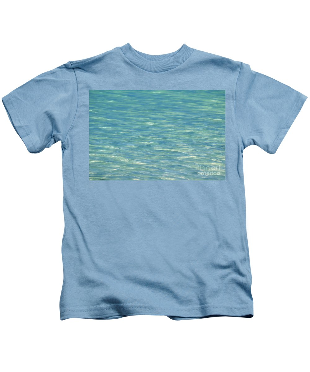 Afternoon Kids T-Shirt featuring the photograph Water Texture by Mary Van de Ven - Printscapes