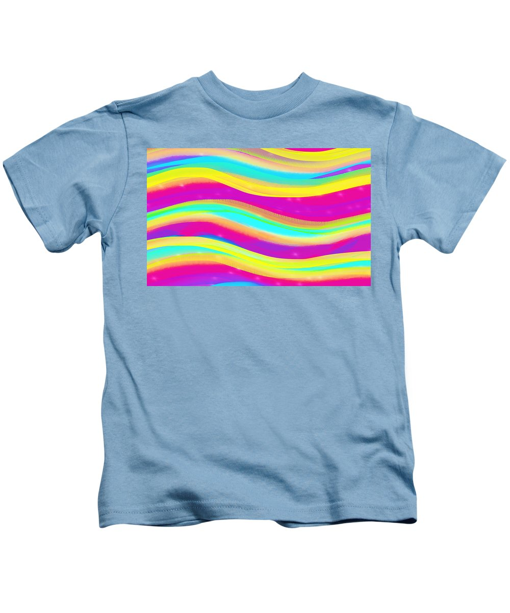 Waves Kids T-Shirt featuring the digital art Waves Of Wishes by Sheree Kennedy