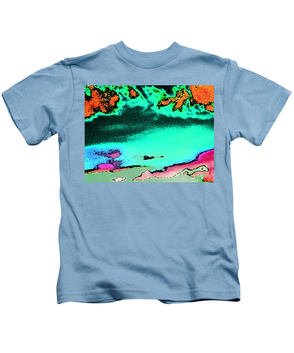 Abstract Kids T-Shirt featuring the digital art Weather by Lenore Senior