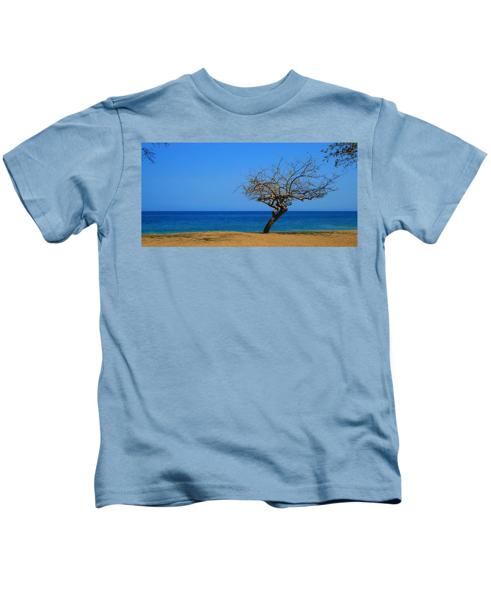 Tree Kids T-Shirt featuring the photograph Weathered Tree by Perry Webster