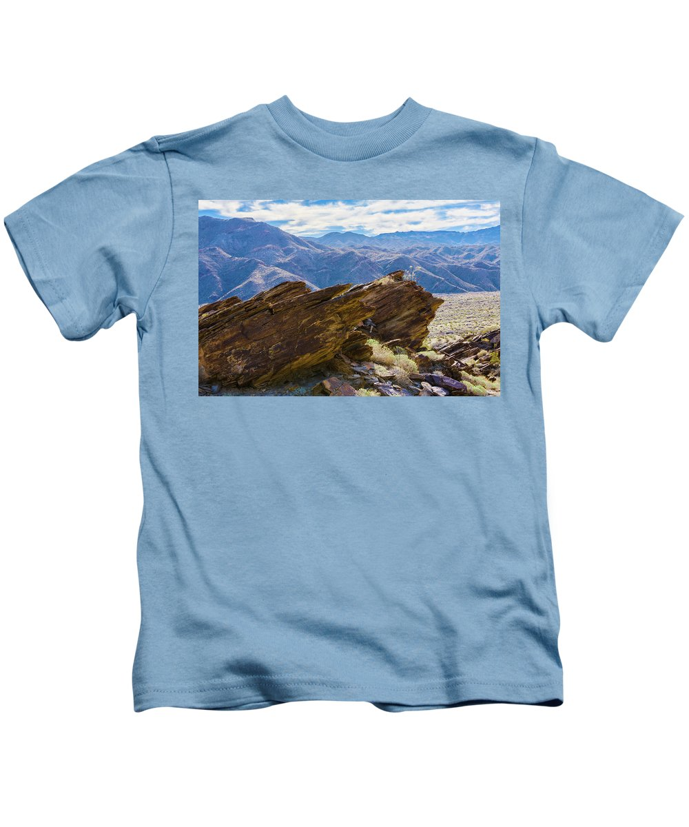 Rock Formation Kids T-Shirt featuring the photograph Where Andreas And Murray Meet 1 by Scott Campbell