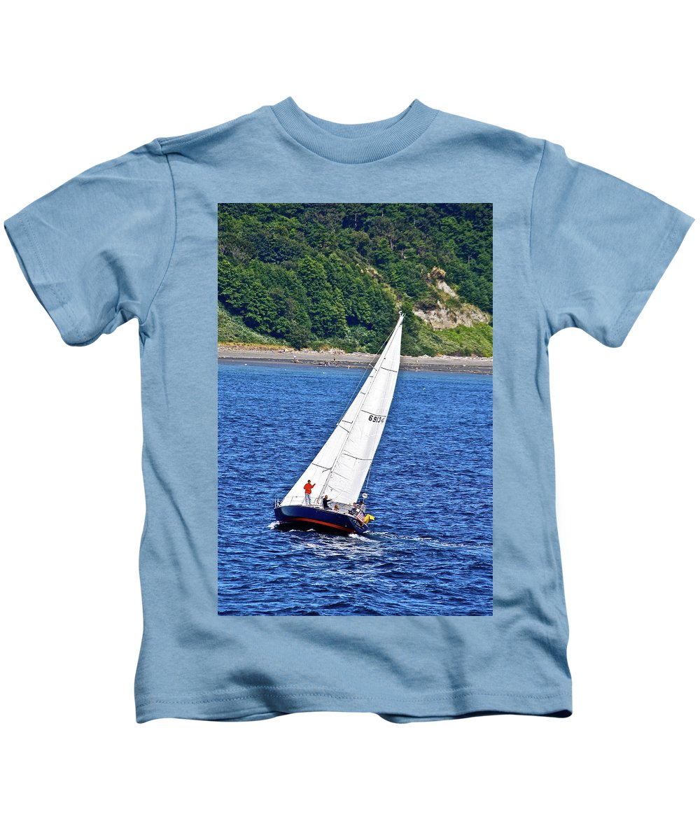 Boat Kids T-Shirt featuring the photograph Wind Friend by Diana Hatcher