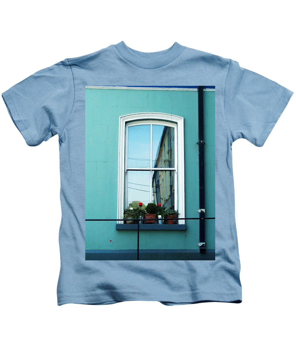 Irish Kids T-Shirt featuring the photograph Window In Ennistymon Ireland by Teresa Mucha
