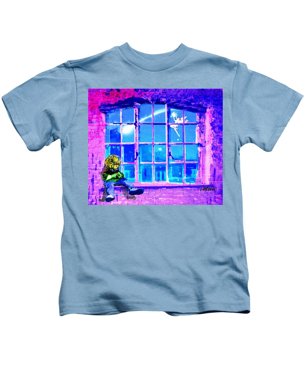 Window Of Dreams Kids T-Shirt featuring the digital art Window of Dreams by Seth Weaver
