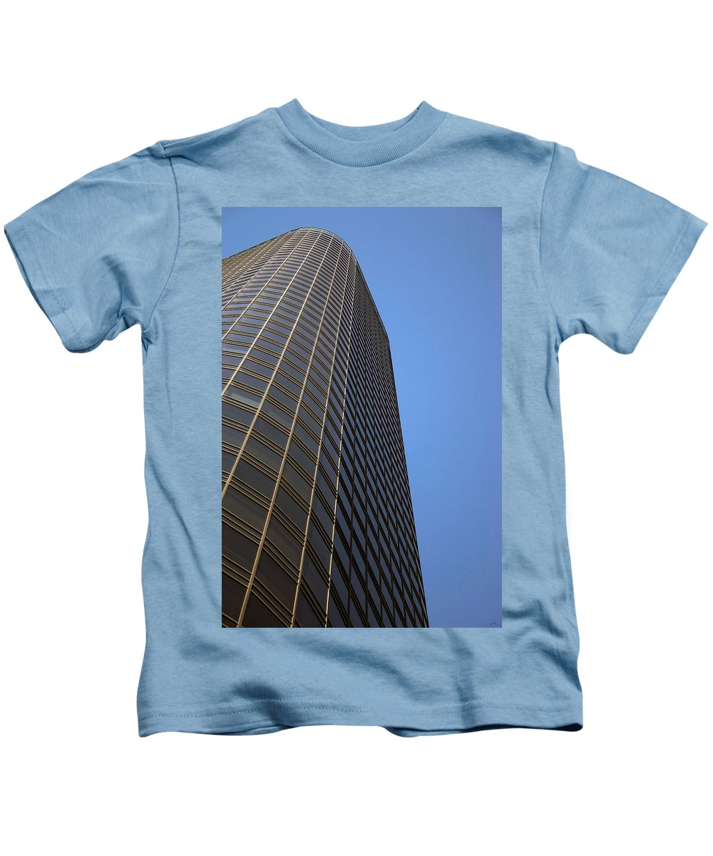 Building Kids T-Shirt featuring the photograph Windows To The Top by Karol Livote