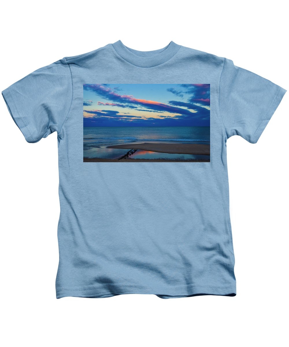 Beach Kids T-Shirt featuring the photograph Winter Beach by David Kay