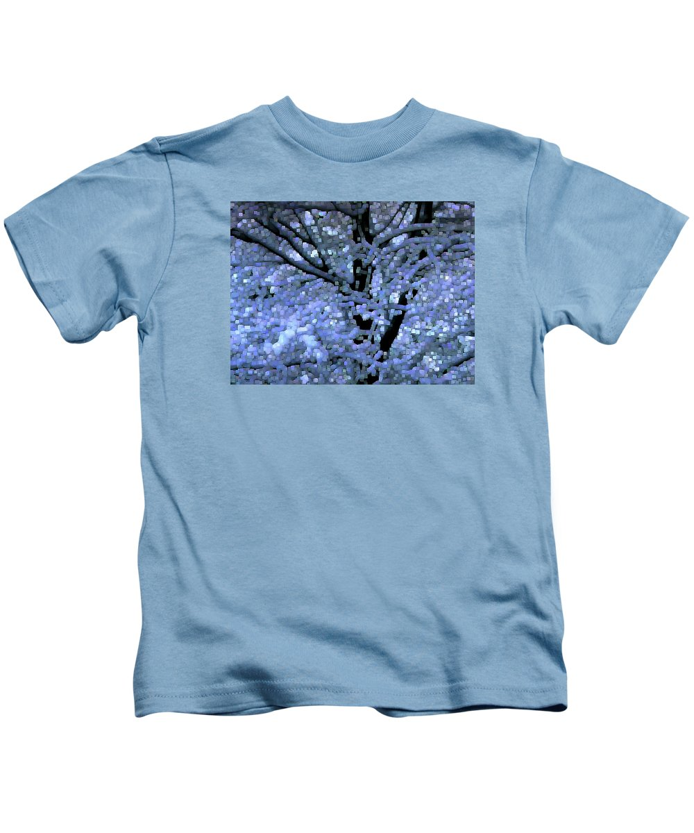 Abstract Kids T-Shirt featuring the digital art Winter Light by Dave Martsolf