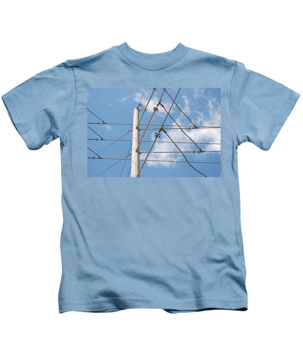 Sky Kids T-Shirt featuring the photograph Wired Sky by Rob Hans