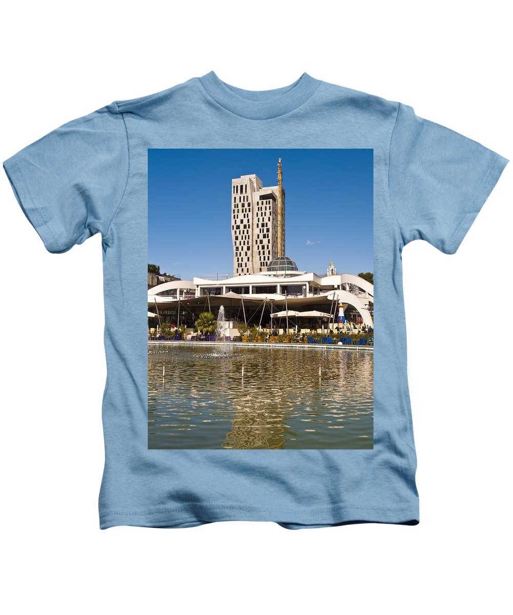Tirana Kids T-Shirt featuring the photograph Youth Park by Rae Tucker