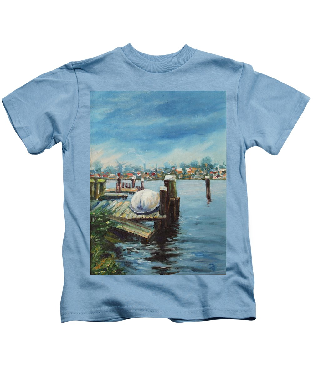 Water Kids T-Shirt featuring the painting Zaandam by Rick Nederlof