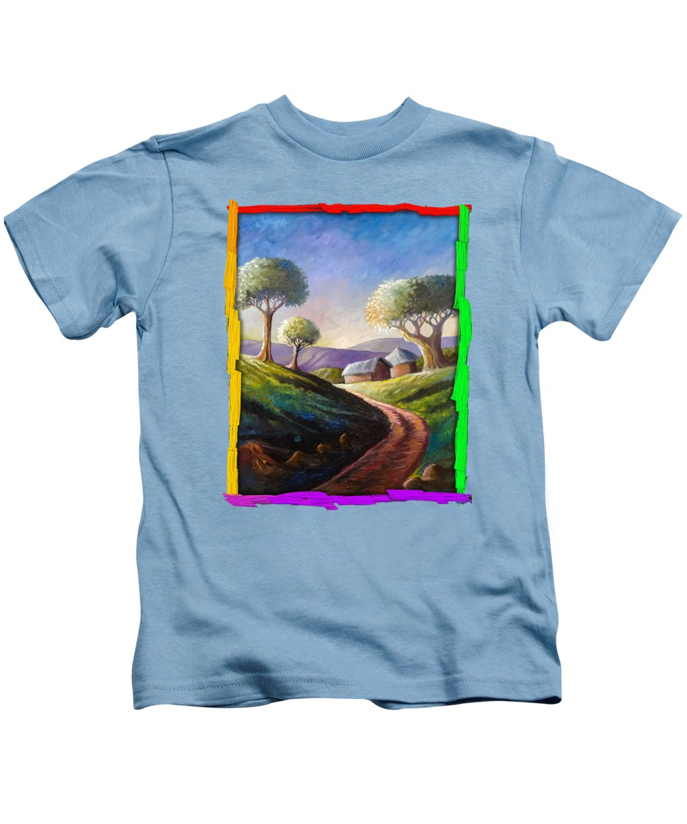 Thatched Roof Paintings Kids T-Shirts
