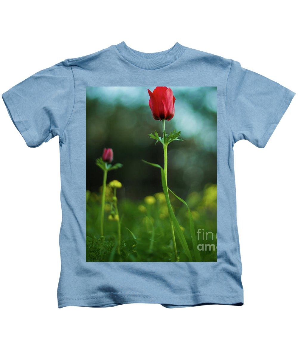 Flowers Kids T-Shirt featuring the photograph Aspecial Flower by Ayob Kabha
