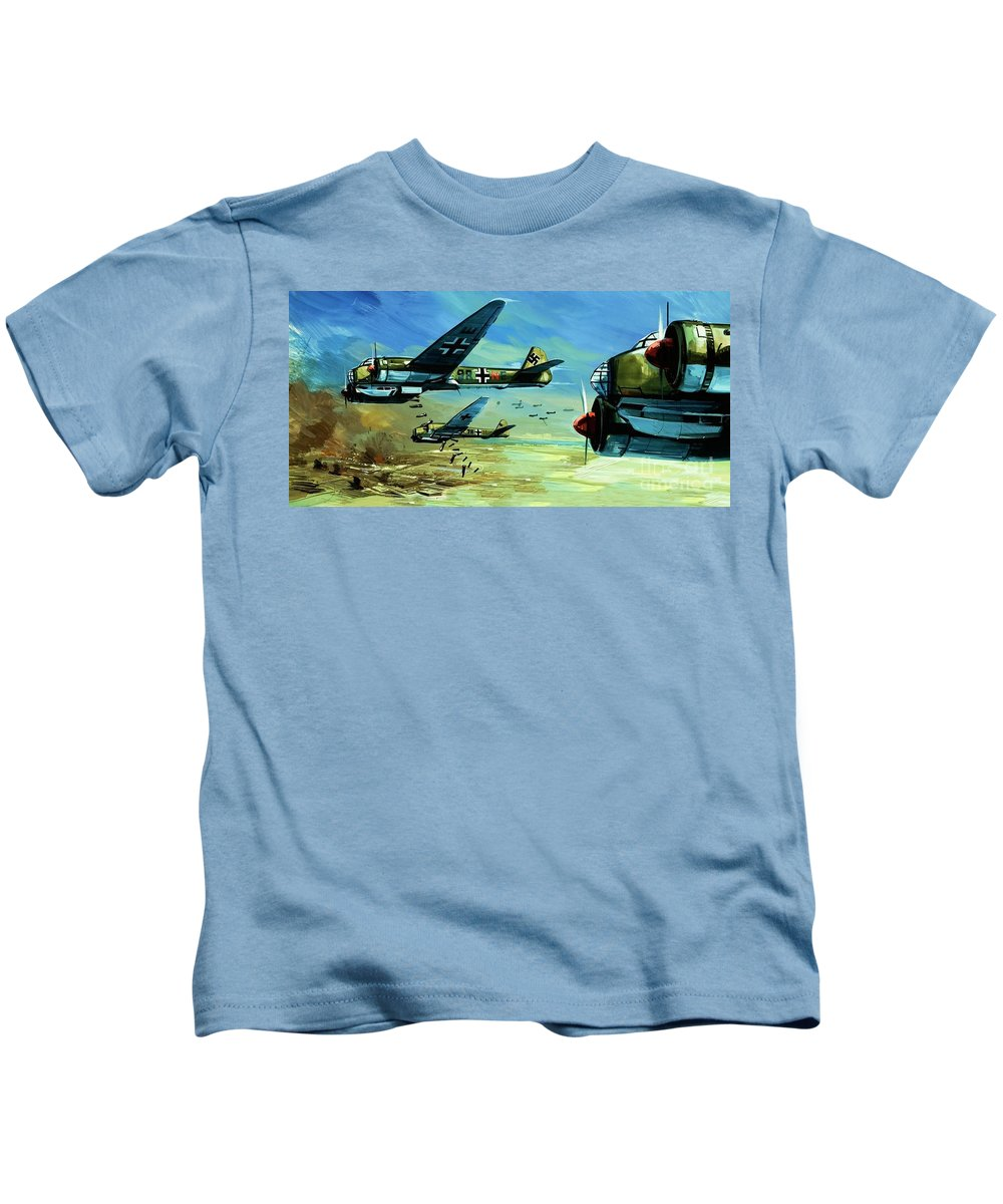 Defeat Kids T-Shirt featuring the painting Holland, 14 May 1940 by Gerry Wood