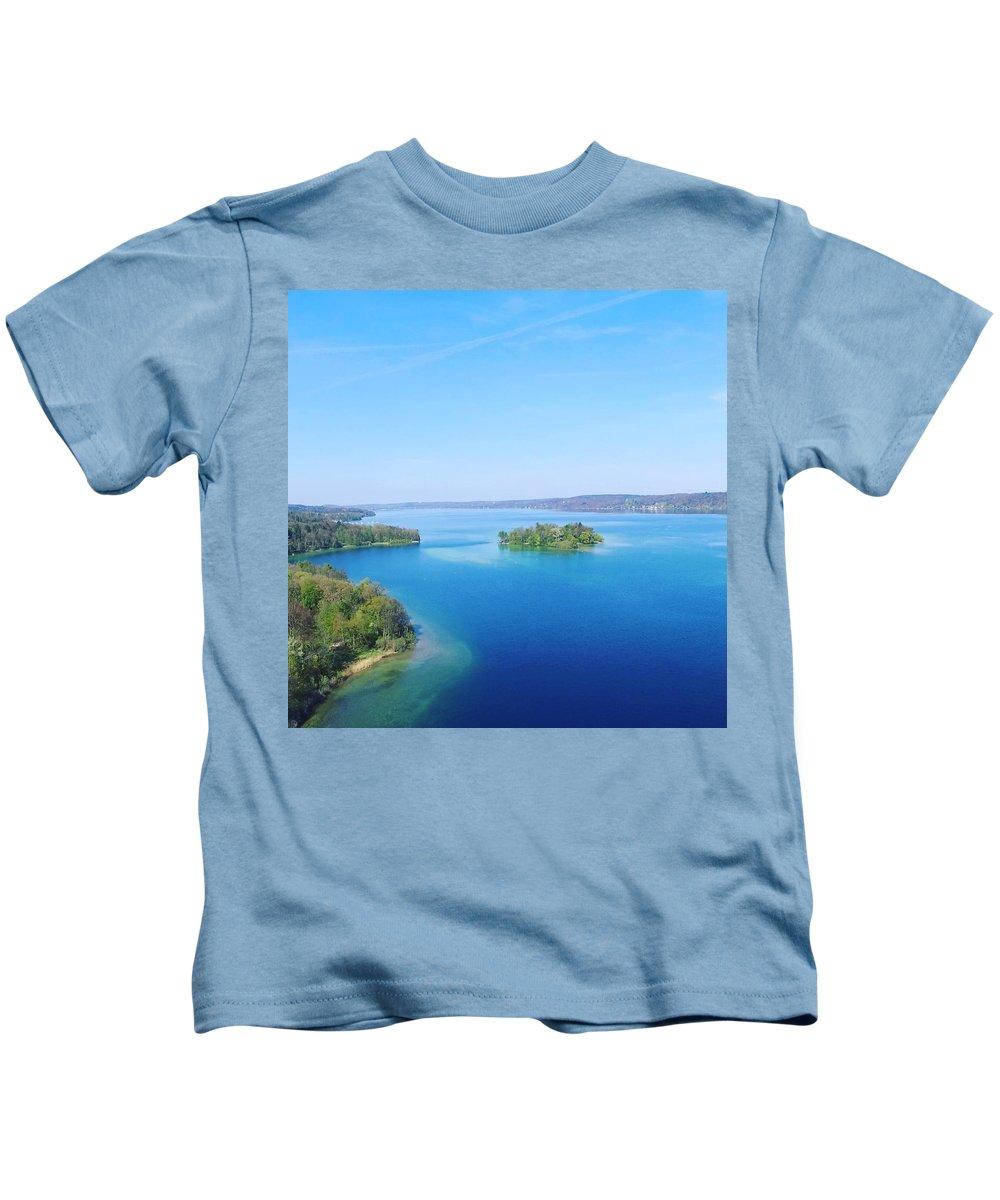 Starnberg Kids T-Shirt featuring the photograph Roseisland by Daniel Hornof
