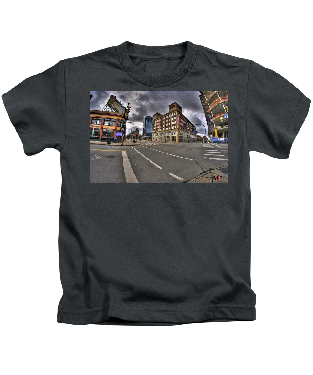 Michael Frank Jr Kids T-Shirt featuring the photograph 001 Delaware And The Chipp Stripp by Michael Frank Jr