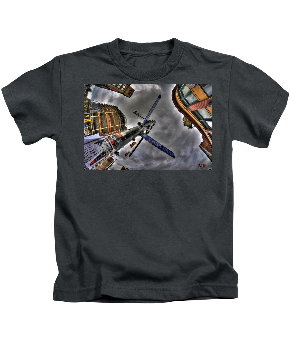 Michael Frank Jr Kids T-Shirt featuring the photograph 0013 Delaware And West Chippewa by Michael Frank Jr