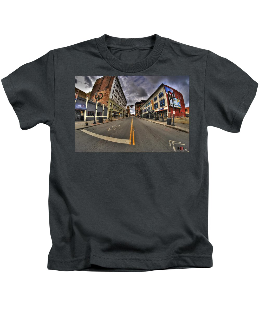 Michael Frank Jr Kids T-Shirt featuring the photograph 0014 The Chipp Stripp by Michael Frank Jr