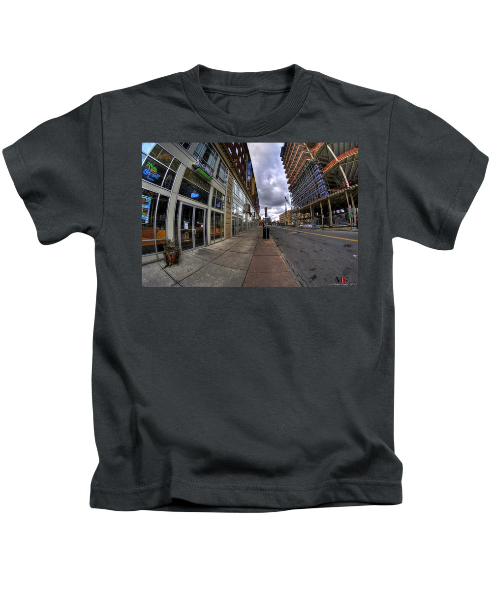 Michael Frank Jr Kids T-Shirt featuring the photograph 0024 The Edible Side Of The Chipp Stripp by Michael Frank Jr