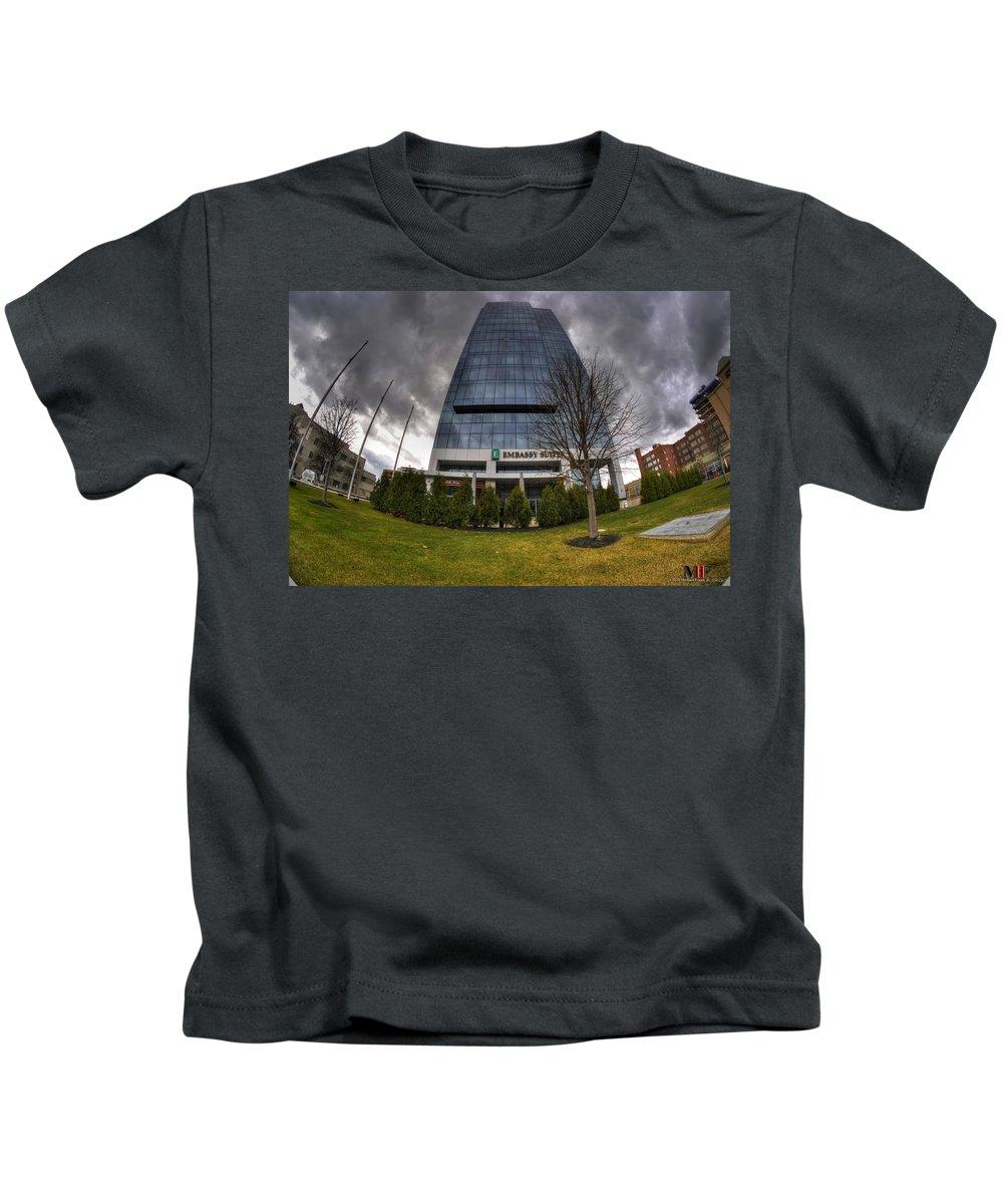 Michael Frank Jr Kids T-Shirt featuring the photograph 0028 Embassy Suites by Michael Frank Jr