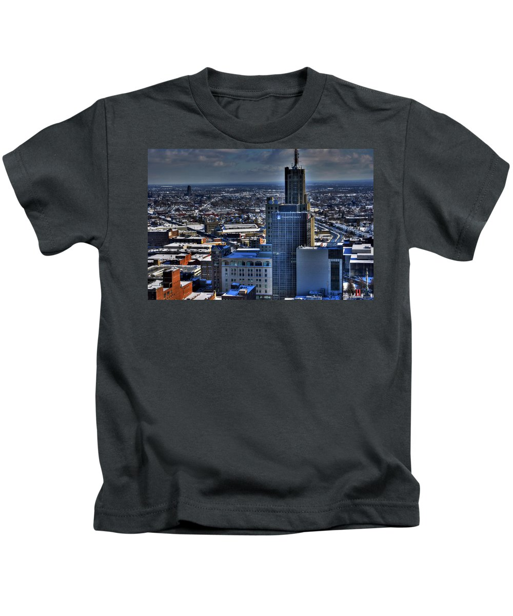 Michael Frank Jr Kids T-Shirt featuring the photograph 0040 After The Nov 2014 Storm Buffalo Ny by Michael Frank Jr