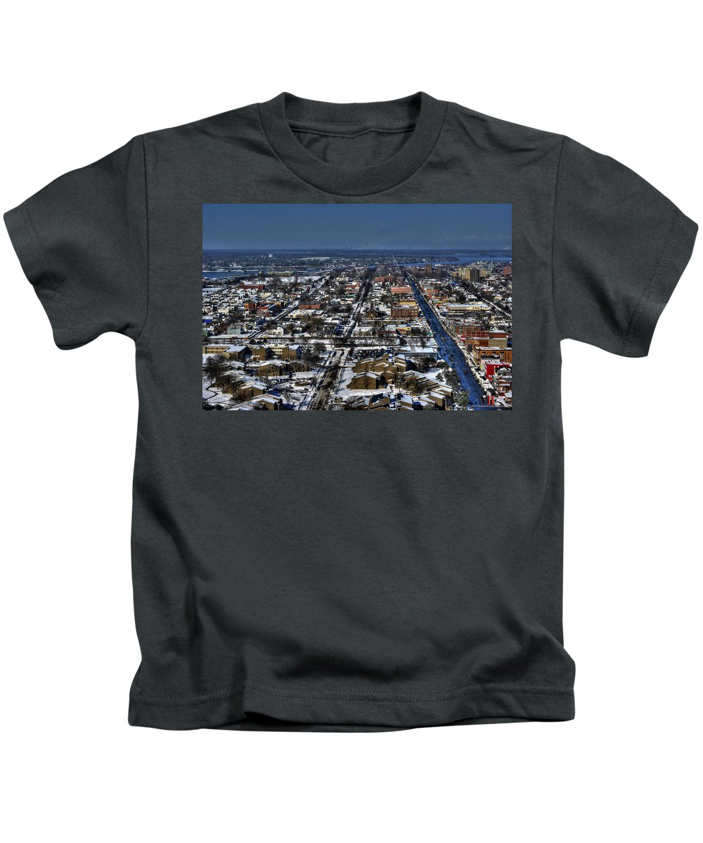 Michael Frank Jr Kids T-Shirt featuring the photograph 0043 After The Nov 2014 Storm Buffalo Ny by Michael Frank Jr