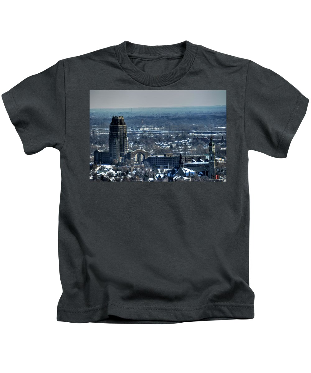 Michael Frank Jr Kids T-Shirt featuring the photograph 0045 After The Nov 2014 Storm Buffalo Ny by Michael Frank Jr