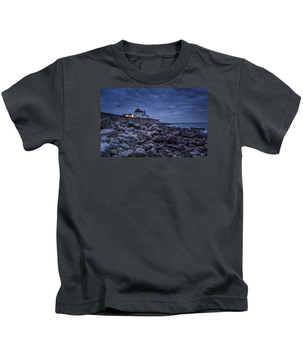 Light House Kids T-Shirt featuring the photograph 006a by Rrea Brown