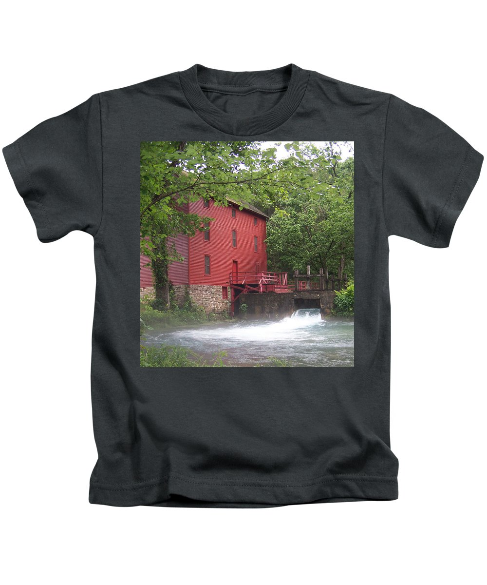 Alley Springs Mill Kids T-Shirt featuring the photograph Alley Springs Mill by James Pinkerton