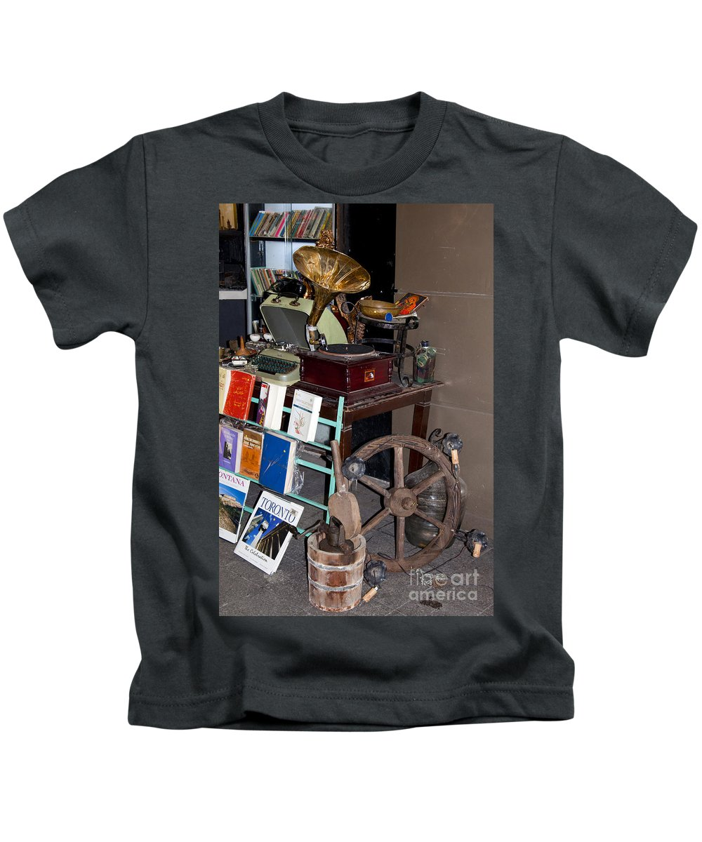 Antique Market Istanbul Turkey Antiques Shop Shops Store Stores Cityscape Cityscapes City Cities Kids T-Shirt featuring the photograph Antiques by Bob Phillips