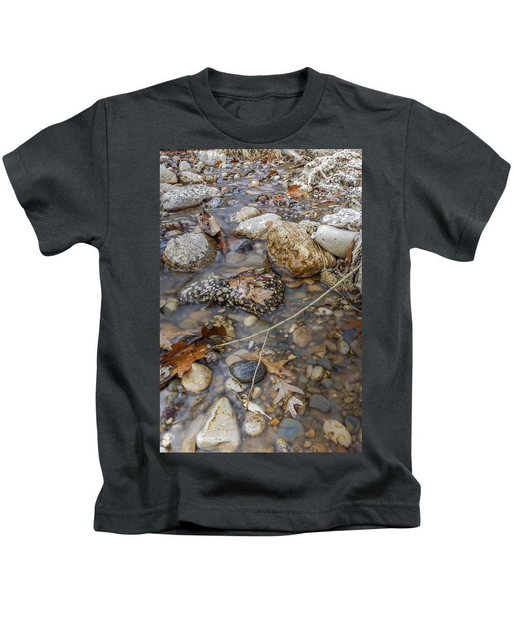 Autumn Kids T-Shirt featuring the photograph Autumn Creek by Peter Lakomy
