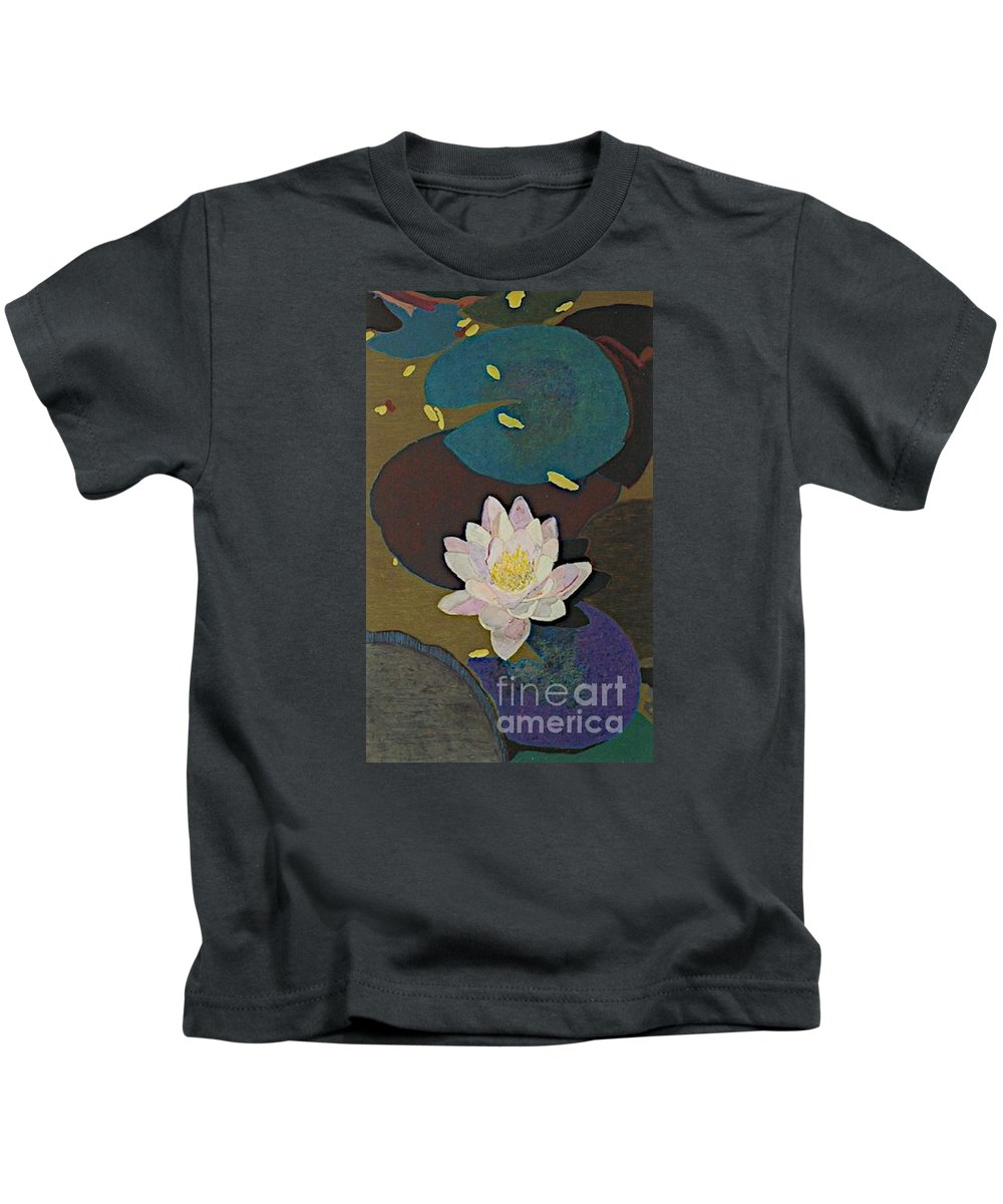 Landscape Kids T-Shirt featuring the painting Autumn Lily by Allan P Friedlander